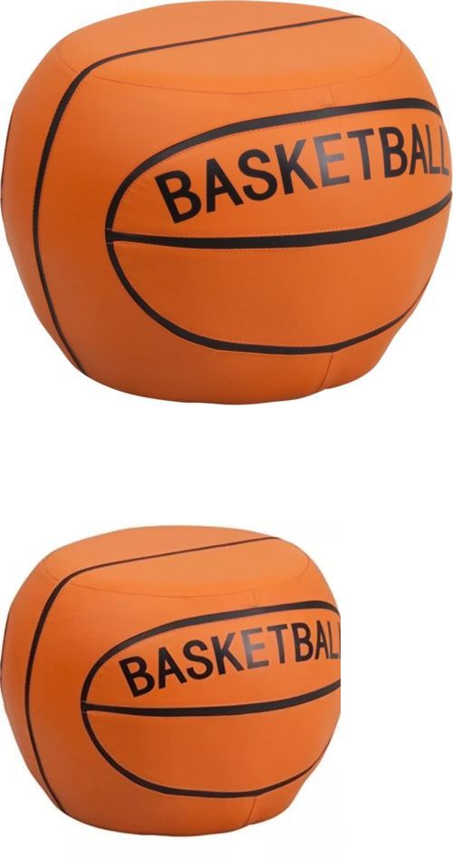 Kids Furniture: Kids Furniture Design Basketball Chair Stool Black And Orange Quit And Easyclean New -> BUY IT NOW ONLY: $75 on eBay!