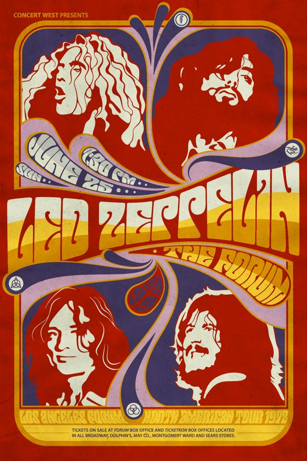 Led Zeppelin fan art on Behance