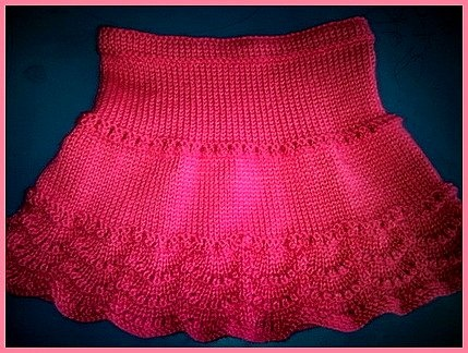 Free Knitting Pattern For Scalloped Edge : free pattern for scallop edge skirt Knitting / Crochet for the Girls Pint...