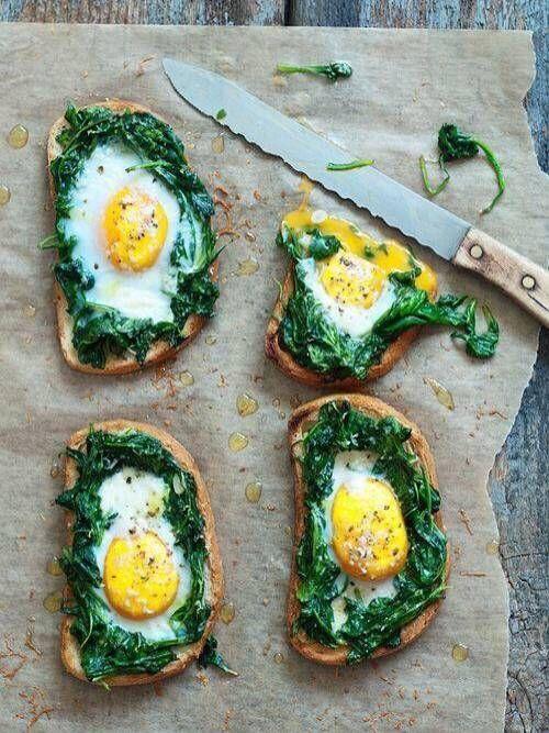Hej! Dla fanów szpinaku i jajka mam coś specjalnego- bruschetta na pełnoziarnistym pieczywie ;) Uwielbiam jajka w różnej postaci, dlatego dodatkowo cieszy mnie fakt, iż ich spożywanie nie szkodzi, a wręcz przeciwnie, sprzyja organizmowi ludzkiemu ;) Miłego dnia!!!! http://fitnella.pl