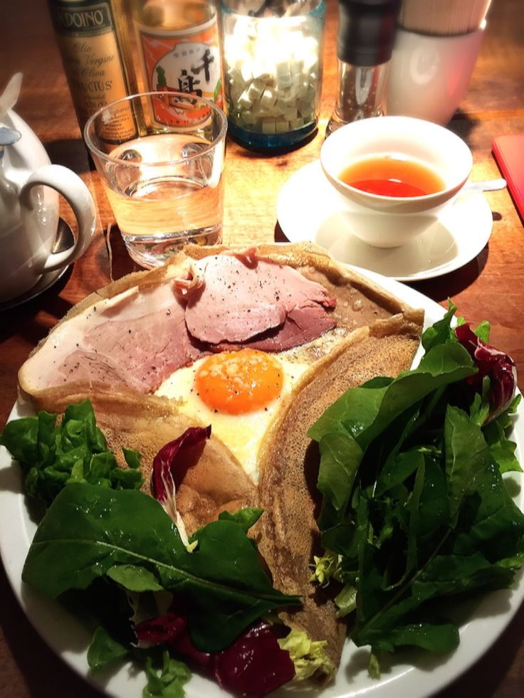 ハムのガレット カフェ マメヒコ 三軒茶屋本店