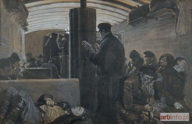 Józef CHEŁMOŃSKI ● W WAGONIE III KLASY w ROSJI, 1887 ●