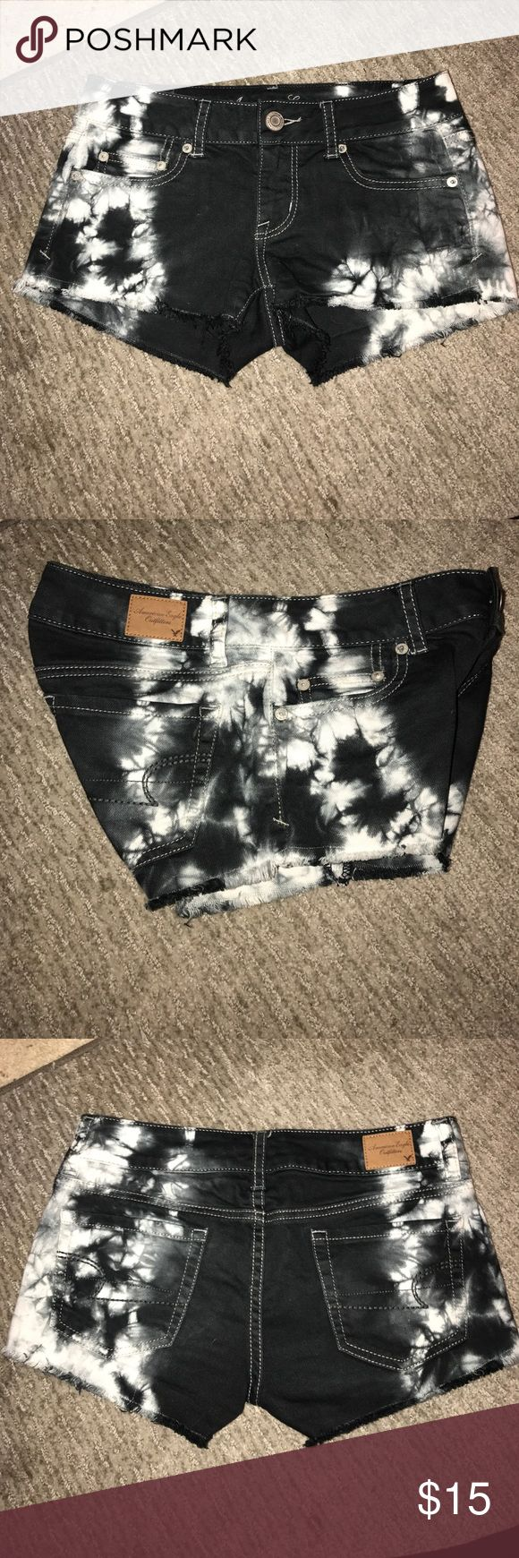 American Eagle Tie Dye Shorts Great condition, only worn once. 98% Cotton, 2% Spandex American Eagle Outfitters Shorts Jean Shorts