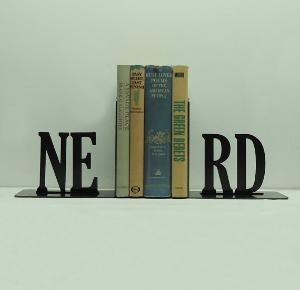 NERD Text Bookends FREE USA Shipping by KnobCreekMetalArts: Bookshelves, Book Worms, Book Nerd, Home Offices Decor, Nerd Texts, Metals Art, Bookworm, House, Nerd Bookends