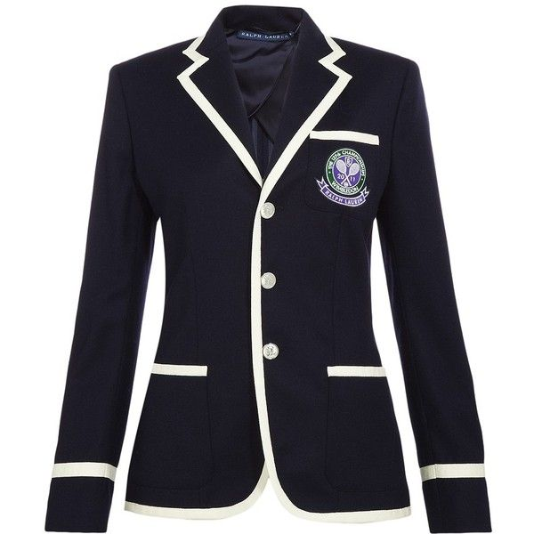 RALPH LAUREN Wimbledon Uniform Blazer ($915) Liked On