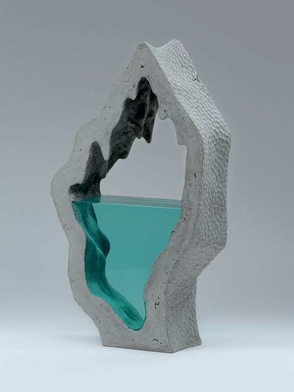 Glass and concrete sculpture | Ben Young - porcelain and resin?