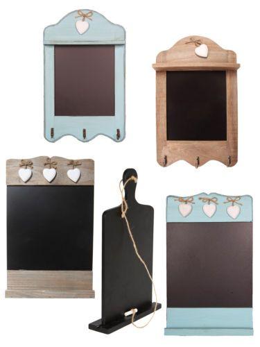 Wooden Chalkboard Memo Board Shabby Chic Rustic Blackboard Home Kitchen Gift | eBay
