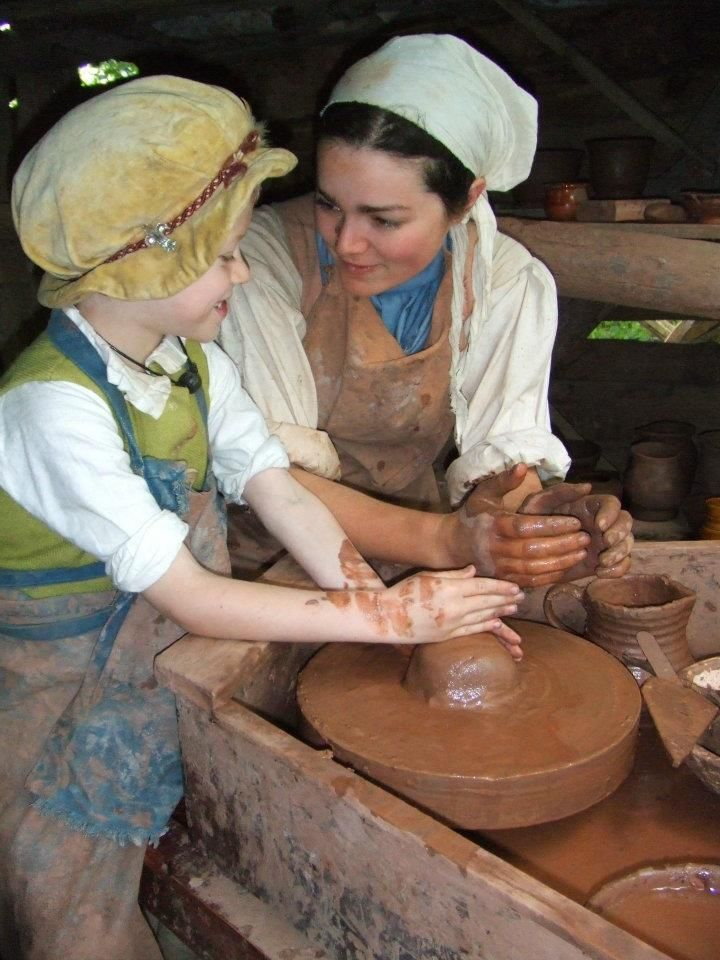 "Kentwell Advent Calendar - 1st December   Sarah Day, Tudor potter: ""A proper, grubby, happy child, and example of how skills are passed on by participants. Also, I just love this picture."""