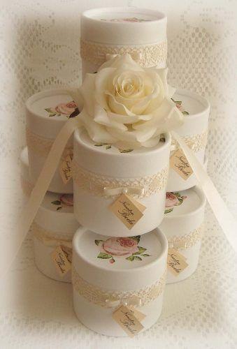 souvenirs cajitas shabby chic casamiento 15 años eventos