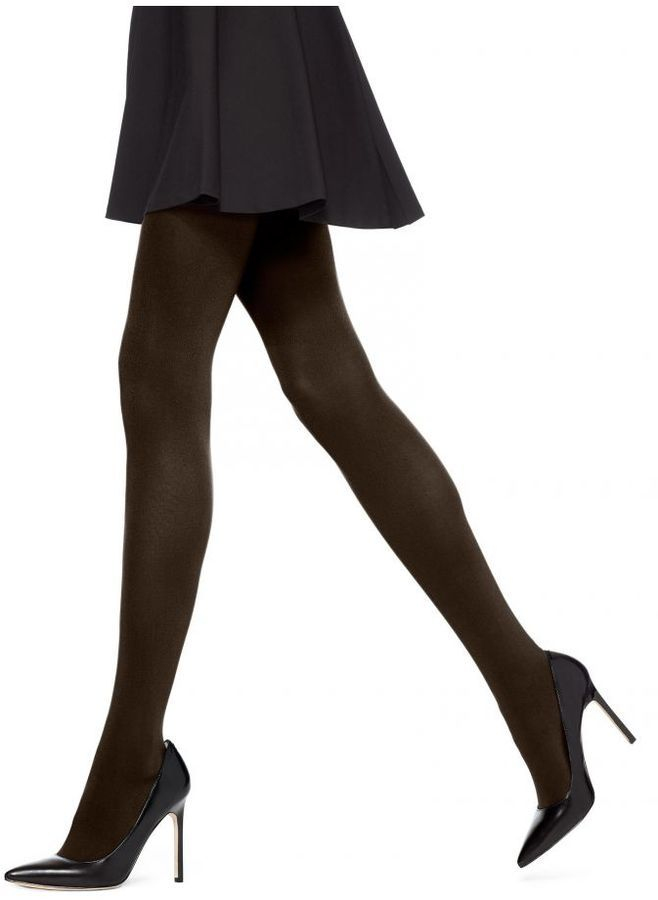 Hue Blackout Tights - Donning a rich, opaque finish and flat seams, these silken stockings give you elegance. They offer maximum coverage for your legs and reveal nothing but solid color. Made with nylon/spandex for stretch and smooth feel. Shop at www.fashion-tights.net #tights #pantyhose #hosiery #nylons #legs