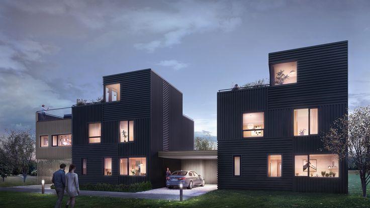 Dvergsnesbrinken. Boligprosjekt Kristiansand.  Arkitekt: Janicke Jebsen Vinje