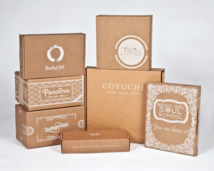 VERY POPULAR WHITE ON KRAFT shipping boxes                                                                                                                                                                                 More
