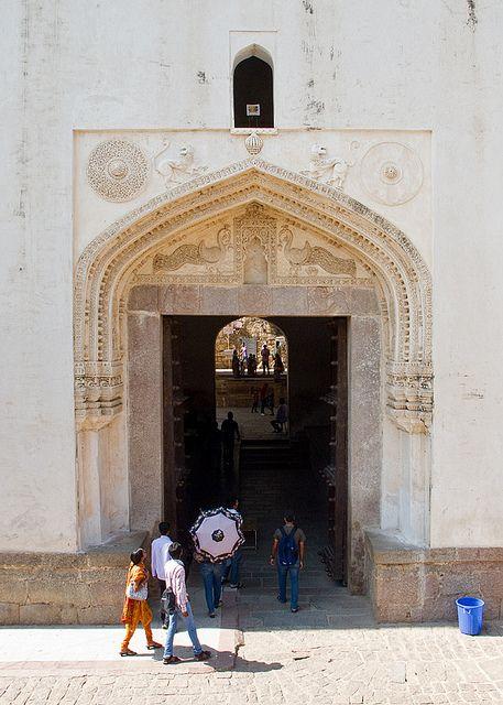 Golkonda Fort - Entrance gate - Hyderabad, #India