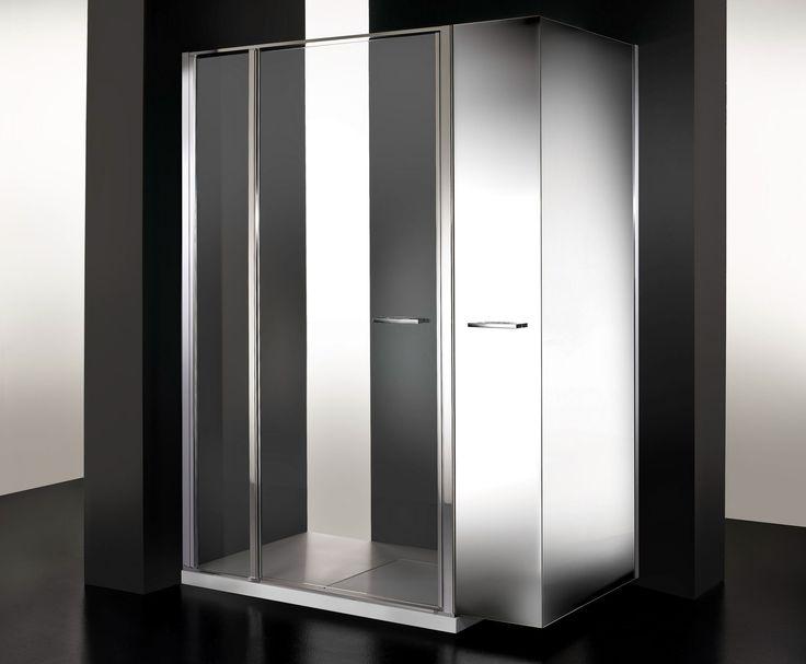 Cabina de ducha twin mini dise o de ildefonso colombo para - Modelos de mamparas de ducha ...