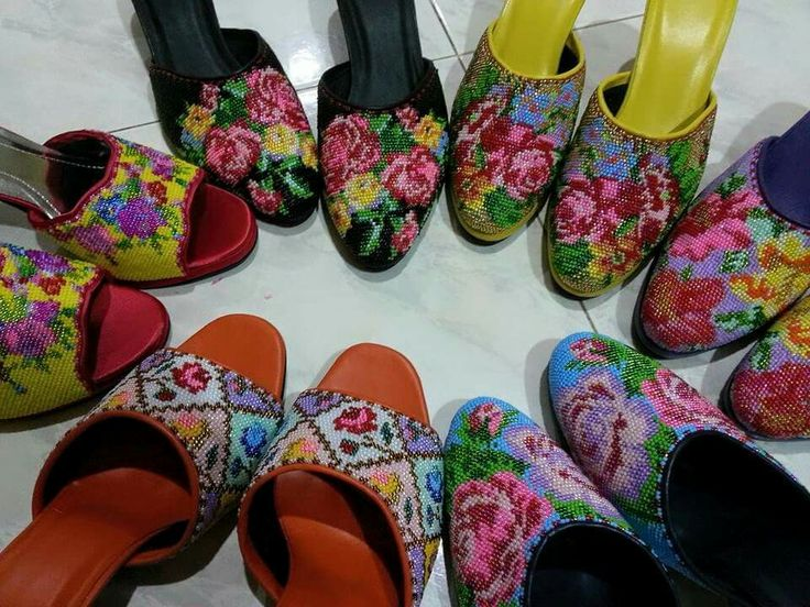 Colourful beaded mules like my grandma use to wear! | The ...