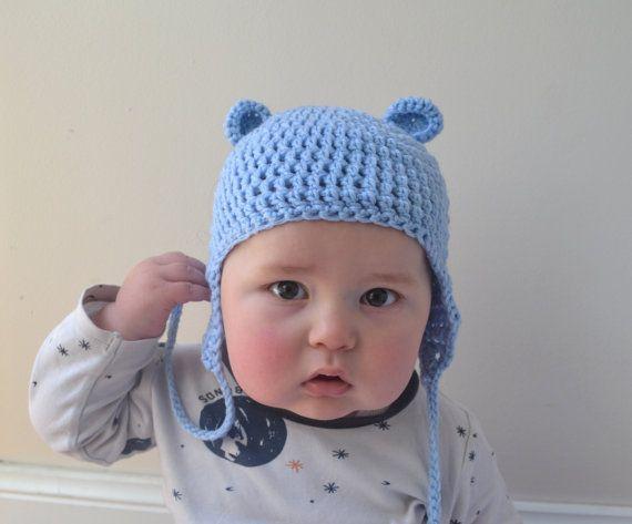 Baby Bear Crochet Beanie by LittleFoxCrochet on Etsy