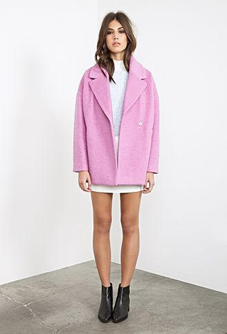 Unstructured Bouclé Topcoat | FOREVER21 - 2055879349