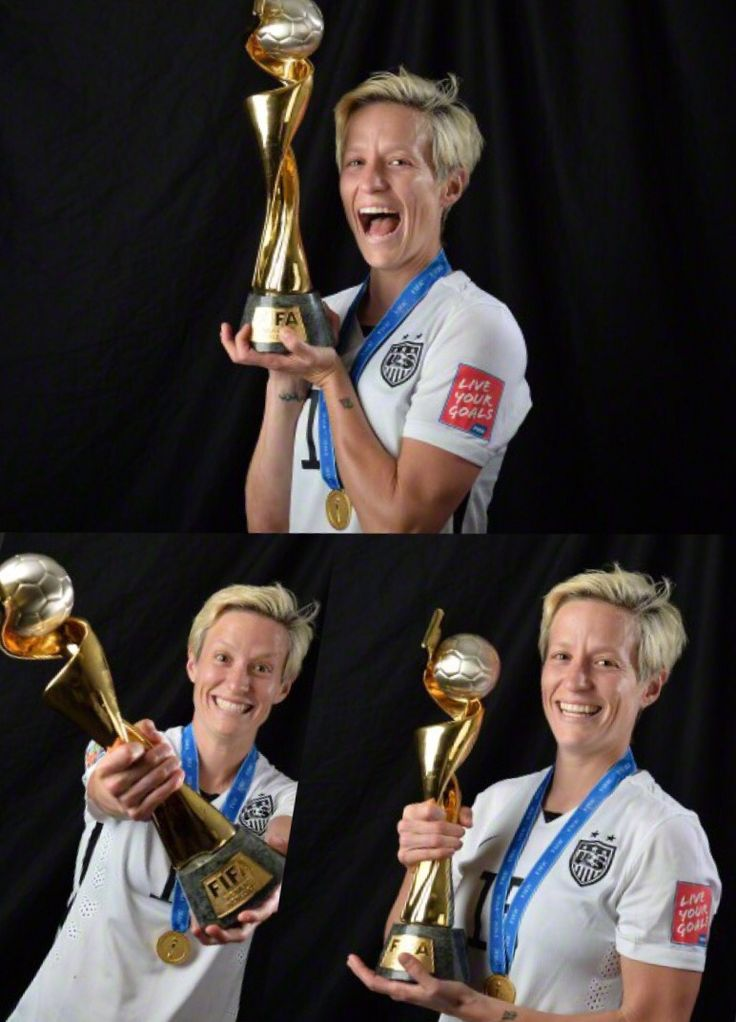 Megan Rapinoe with the World Cup Trophy ❤️