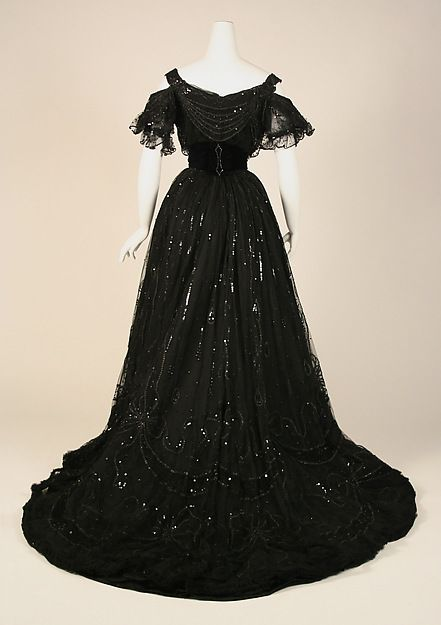 Dress (image 5) | House of Worth | French | 1906-08 | silk | Metropolitan Museum…