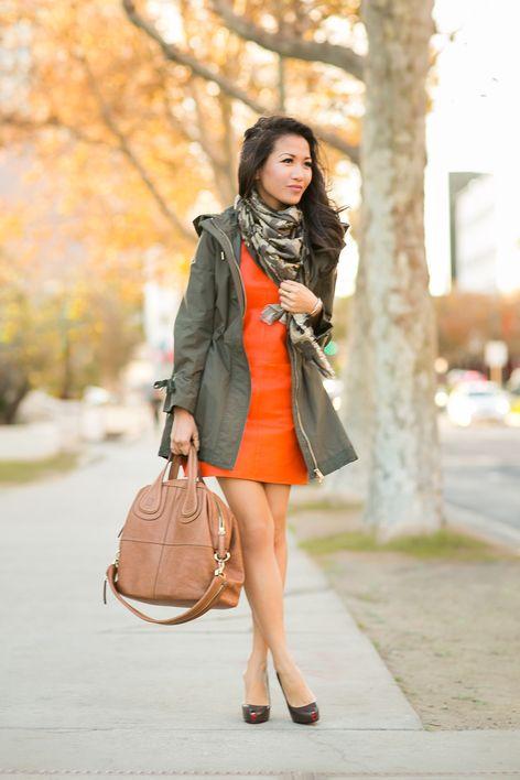 Weekend Brunch :: Orange shift dress
