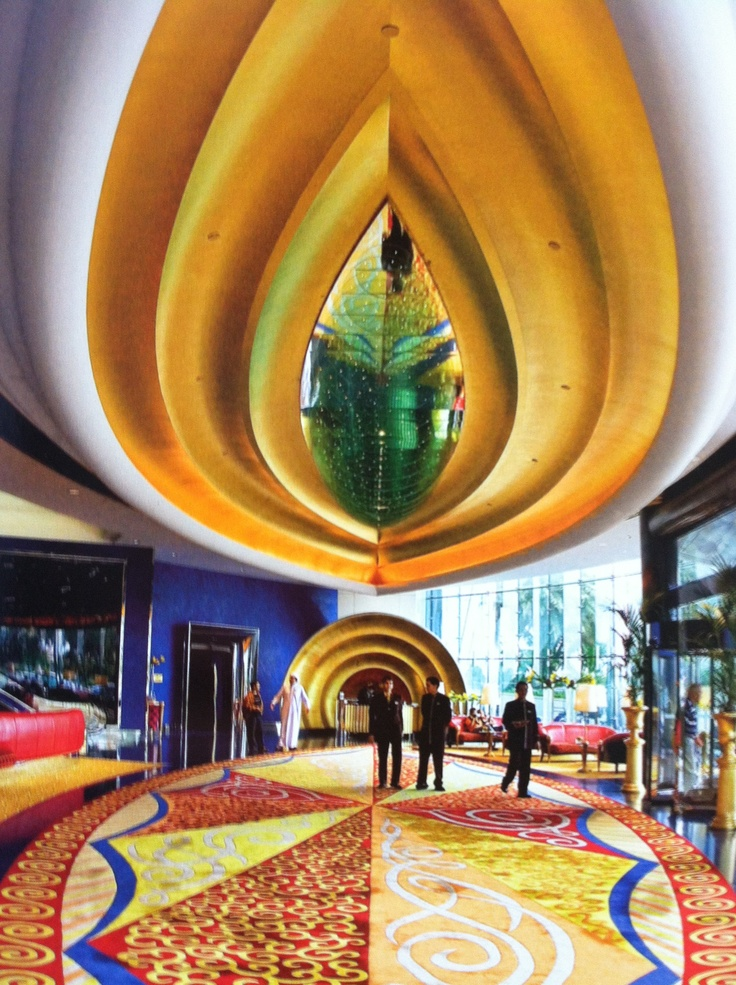 Burj Al Arab Hotel Interior Architek Tura Pinterest