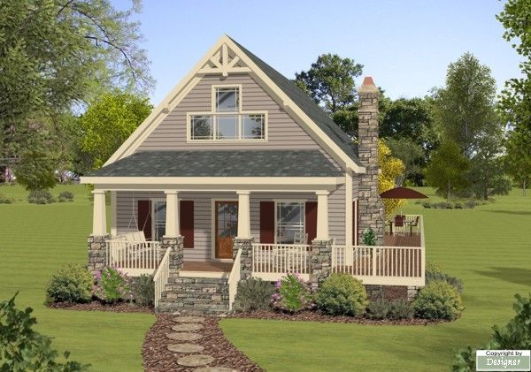 The Moutain Laurel House Plan - 2308. Mom this is the perfect cottage for you :)