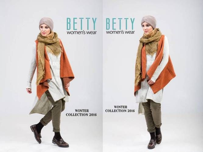 bright color hijab winter style