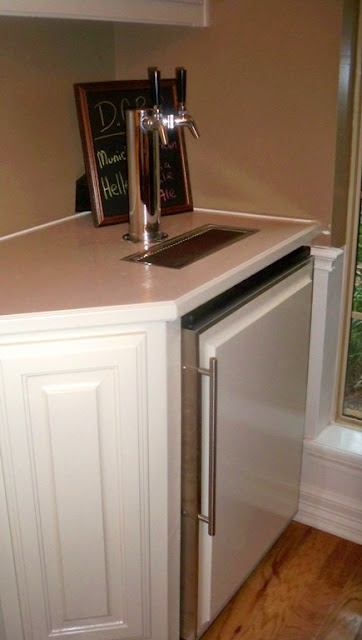 kegerator kitchen remodel ideas pinterest built ins