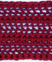 Easy Thick and Thin Crochet Scarf - Free Pattern