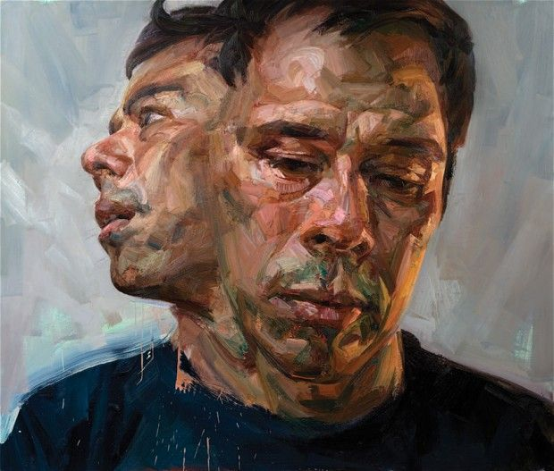 Tai-Shan Schierenberg Self-portrait as Janus, 2008 Oil on canvas 183 x 214cm