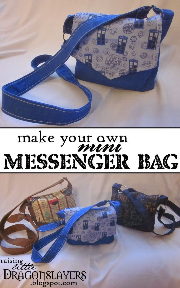 Geeky purse tutorial: Make your own mini messenger-style cross-body bag.  (Yours doesn't have to have TARDISes...they just make it cooler!)