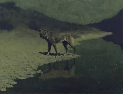 Moonlight Wolf - Frederic Remington 1909