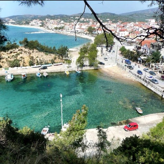 Fishing village in Thassos Greece, Limenaria