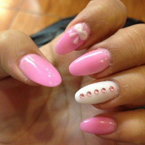 simple cute nail ideas pink color : Nail Art Designs | Short ...