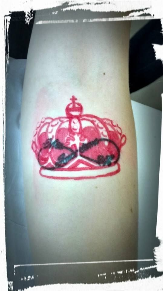 Cover up crown tattoo over infinity symbol before my for Infinity sign tattoo cover up