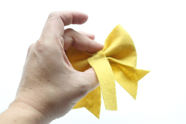 felt bow free pattern and tutorial