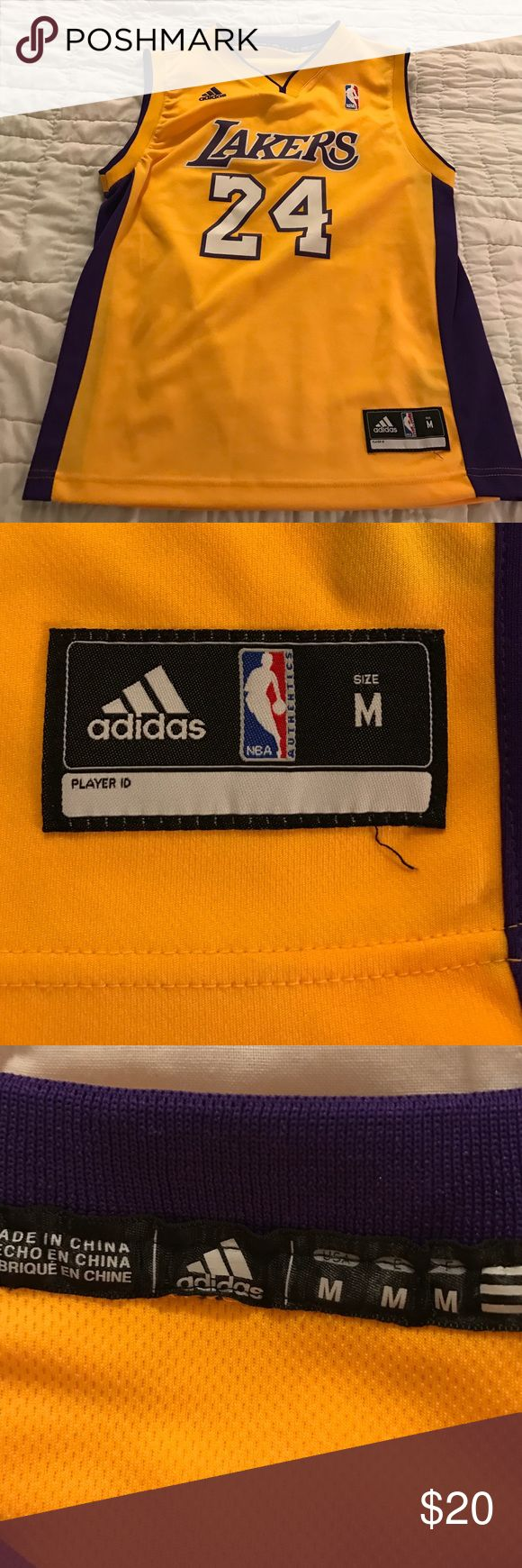 In new condition Kobe Bryant Lakers Jersey kids M Like new Kobe Bryant Lakers Jersey kids size M Adidas Shirts & Tops Tank Tops