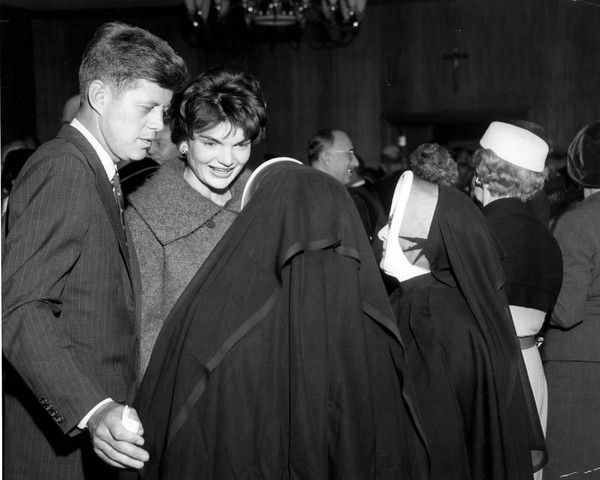 1958. JFK and Jacqueline on the campaign trail