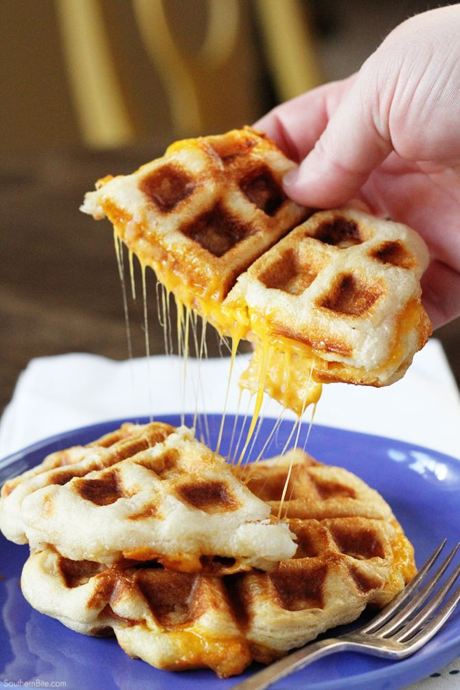 Ham, Egg, and Cheese Biscuit Wafflewiches