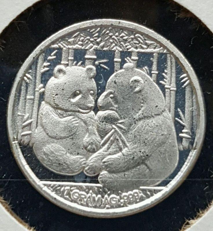 1 Gram .999 Silver Round Panda In a 2 X 2 Paper Flip | eBay