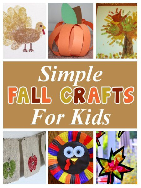 diy home sweet home: Fall Crafts for Kids