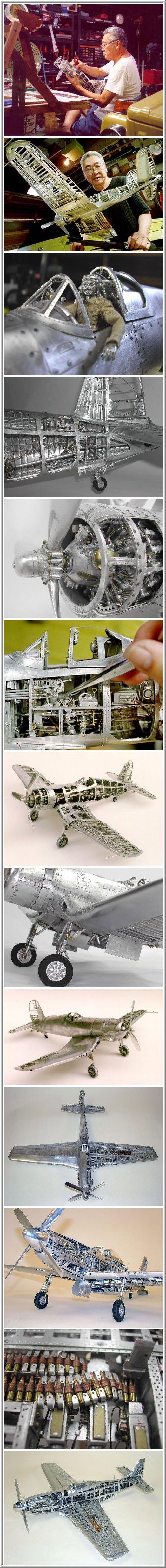 Unique model airplanes made of aluminum, La locura hecha realidad. Estos vuelan de verdad.
