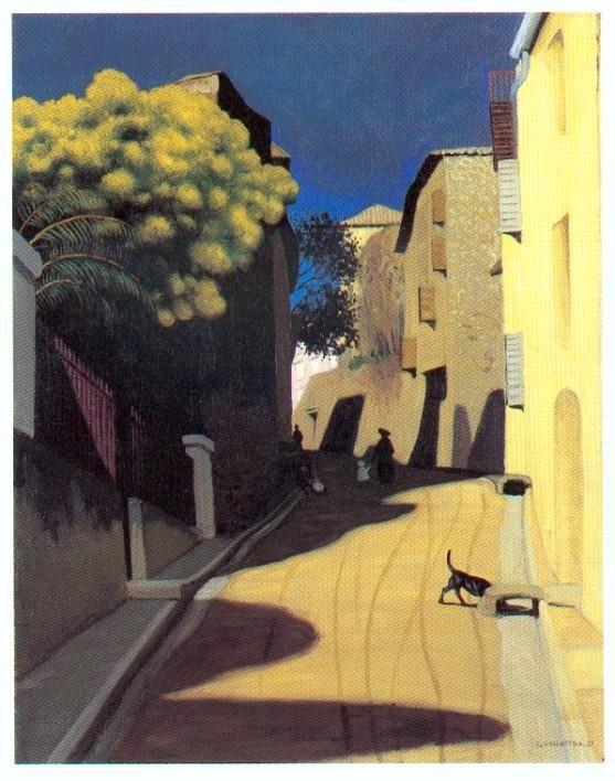 peinture : Vallotton, mimosa à Cagne. Provence