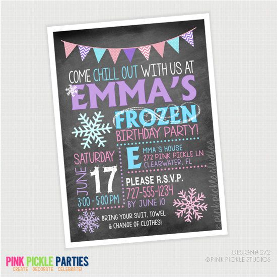 items similar to frozen snowflake birthday party invitations thank you cards birthday invitations party invitations on etsy