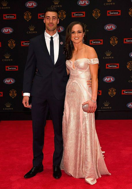 Daisy Pearce wearing Georgia Young Couture to the 2016 Brownlow Awards