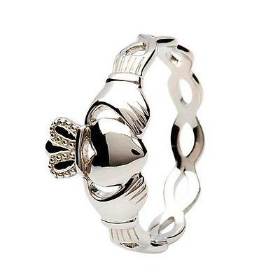 Other Celtic Jewelry 34065: Shanore Sterling Silver Claddagh Ring With Eternity Knot Band Irish Size 6 BUY IT NOW ONLY: $45.0