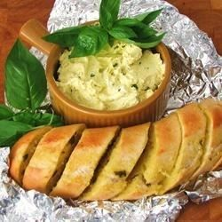 Delicious basil flavored butter recipe. I love this tossed into hot pasta or on grilled veggies and corn on the cob.