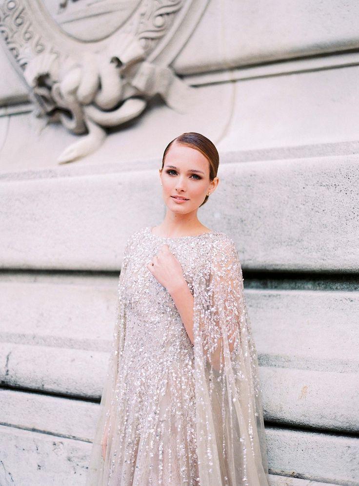 Glamorous Parisian Elopement in a Sequin Gown by Le Secret d'Audrey   Wedding Sparrow