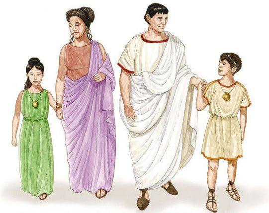 Imagen de la antigua familia Romana.