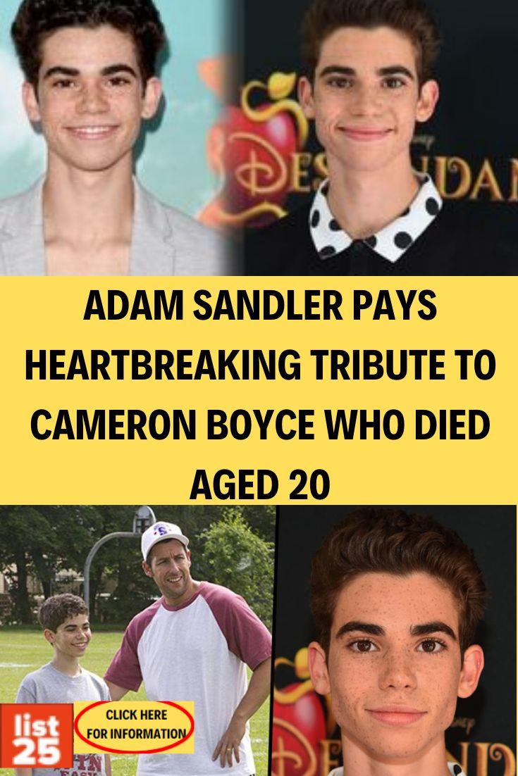 Adam Sandler Pays Heartbreaking Tribute to Cameron Boyce